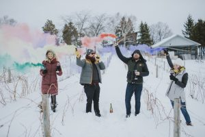 Michigan Sparkling wine, Mawby, winter fun, wine tasting