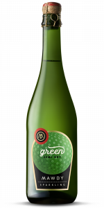 bottle shot, green, sparkling wine, Michigan